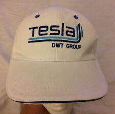 Telsa DWT Group White Cap Hat Pumps Motors Electronics Italian Flag NWOT