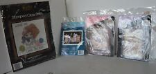 Vintage Cross Stitch Needlepoint Kit Lot of 4 Cat