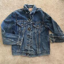 Vintage Levis Big E Type 3 Trucker Jacket Jean Denim Blue 1960s Indigo