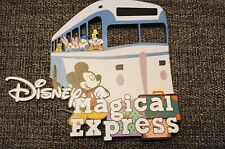 Disney magical express printed scrapbook page title die cut