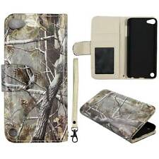 Flip Wallet Camo Pine Rt  For  Apple iPod Touch 5 Pu Leather Cover Case