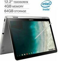 "🔥2021 Samsung 12.2"" FHD 2-in-1 Touch Chromebook Plus V2 Celeron/4GB/64GB+Pen🔥"