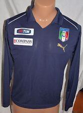 Puma Italia 8 Soccer Jersey US Size-XL FIGC Italy  black long sleeve