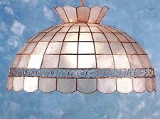 Genuine Capiz Shell Swag Lamp Scroll Design Design