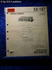 Sony Service Manual XA 107 Source Selector (#3760)