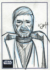 STAR WARS GALAXY 6 SKETCH CARD KEVIN DOYLE OBI-WAN