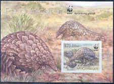 Mozambique Wwf World Wildlife Fund Ground Pangolin Souvenir Sheet Imperf