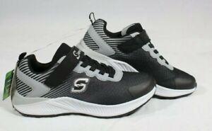 Skechers Boys' S Sport Xandor Athletic Sneakers Black/white Size 4