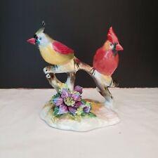 """Royal Adderley """"Cardinal� Porcelain Bird Figurine. No Cracks or Chips"""