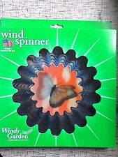 Windy Garden Butterfly Metal Outdoor Holograph Wind Spinner Made in Usa Blue 10""