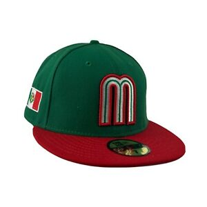 Mexican Pacific League logo 59FIFTY NewEra fitted cap hat green red size 7- 71/8