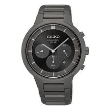 Seiko Men's Ssc443 Solar Quartz Chronograph Stainless Steel Dress Watch