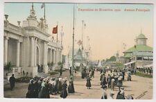 Bruxelles Exhibition 1910 postcard - Avenue Principale