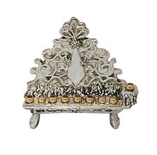USED Traditional Collector 925 Sterling Silver Adorn Menorah Hanukkia Unique *