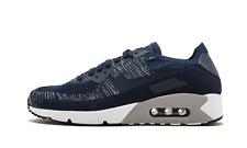 Nike Air Max 90 Flyknit COLLEGE NAVY BLUE BLACK WHITE 875943-401 Men's 8 Running