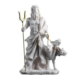 "Pluto Hades Lord of the Underworld Greek Statue Dead Figurine Museum 9.4"""