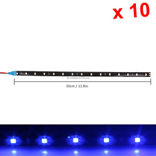 10x Blue Flexible Strip Light 30CM 1FT 12' Waterproof 12 1210 SMD LED M004