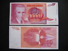 YUGOSLAVIA  1000 Dinara 1992  (P114)  UNC