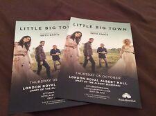 LITTLE BIG TOWN- ROYAL ALBERT HALL LONDON UK 2017- CONCERT FLYERS X 2