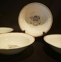 Country Home Jamestown China Salad/Cereal Bowls (4) Japan Action Industries Inc