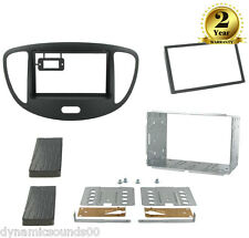 CT23HY13 Black Double Din Facia Panel Plate For Fits Hyundai I10 2008 to 2013