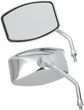 Emgo 10mm Chrome Universal Motorcycle Pair Big One Cruiser Handlebar Mirrors