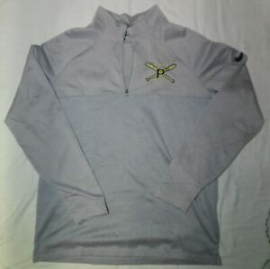"Grey NIKE Golf / Baseball Training Top 1/4 Zip LARGE 46"" Chest Warm"