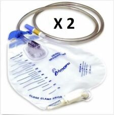 2 Dynarex Sterile Urinary Catheter Drainage Bag 2000ml #4271 FREE SHIPPING