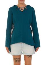 Hippie Jumper Pixie Hoodie 100% Cotton Drawstring Sweatshirt Boho Shirt Pullover