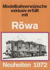 catalogo RÖWA 1972 Neuheiten 1972 HO ROKAL TT Modelleisenbahnen     D         aa