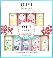 OPI Avojuice ARTFUL FLAVORS 9-pc Lotion Gift Set ~ 24-hr moisture, New 2016 NIB