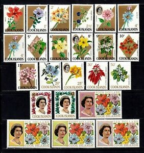 Cook Islands stamps #199 - 220, MNHOG, XFS, complete topical set, flowers