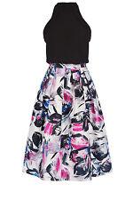 Warehouse Multicolor Brushstroke Print Midi Dress 6
