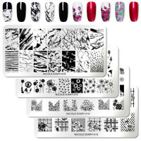 NICOLE DIARY Nail Stamping Plates Dandelion Rose Geometry French Stamp Templates