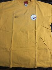 Reebok NFL Pittsburgh Steelers Gold Short Sleeve T-Shirt, Size Large