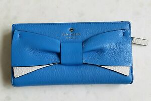 KATE SPADE New York Eden Blue Purse with Bow Leather NEW