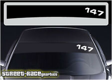 Ss2008 ALFA ROMEO 147 Windscreen Sunstrip Graphics Stickers Décalques