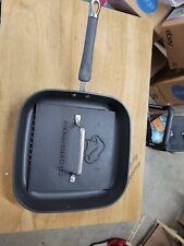 Pampered Chef 11 Inch Griddle Skillet Pan & Griddle Press