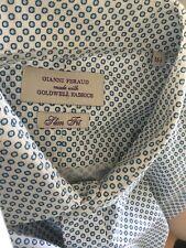 "GIANNI FERAUD Goldwell Fabric Men's Slim Fit Smart Shirt, Collar 16.5"" (A03)"