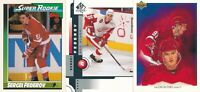 Sergei Fedorov Lot of 3 different Detroit Red Wings Hockey Cards