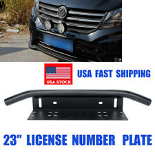 "23"" Bull Bar Front Bumper License Plate Mount Bracket Led Work Light to Jeep Suv"