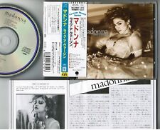 MADONNA Like A Virgin JAPAN CD 18P2-2701 w/OBI '89 Forever Young reissue WB logo