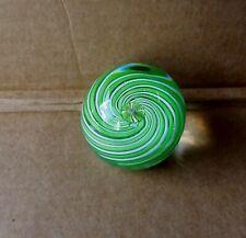 Green Swirl Art Glass Paperweight Lot #2