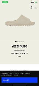 Adidas Yeezy Slides Pure Size UK 5
