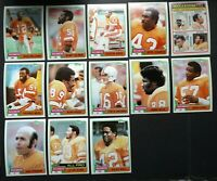 1981 Topps Tampa Bay Buccaneers Team Set of 13 Football Cards