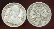 INDOCHINE  20  cent 1945  ( bis )