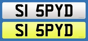 S1 5PYD - Cherished Number Plate For Porsche Boxster Spyder (007/Spy/Simon/Si)