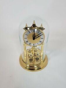 Vintage Elgin Brass Glass Anniversary Clock
