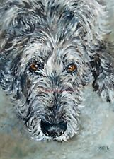 More details for sale irish wolfhound signed dog print by susan harper unmounted