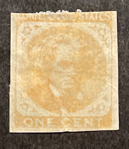 TDStamps: US Confederate States CSA Scott#14 Unused NG Tiny Thin Lightly Crease